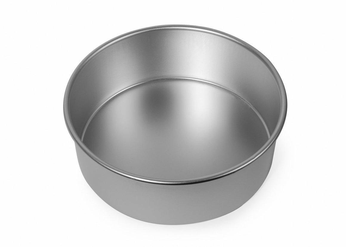 8x3 inch Round Cake Tin with Solid Base