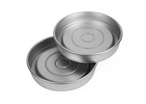 7 inch Round Sandwich Tin Set of 2 Tins, 4 Bases