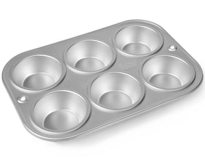 6 CUP MUFFIN TRAY 8cm CUPS DELIA ONLINE RANGE