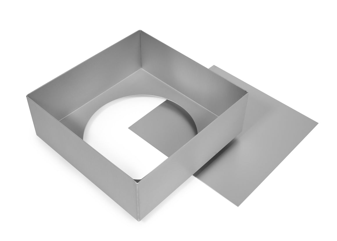 7x3 inch Square Cake Tin with Loose Base