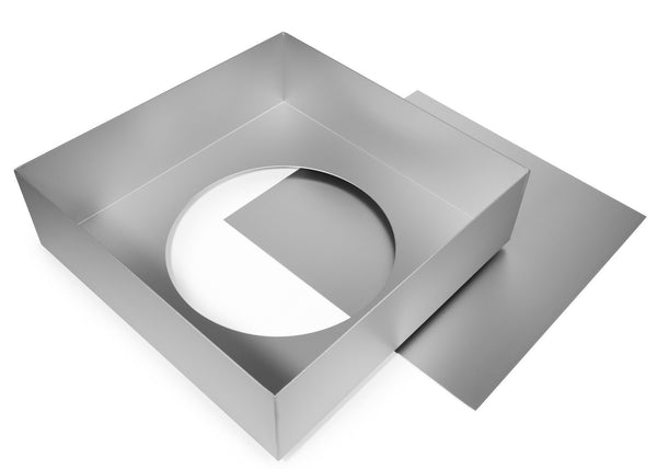 13x4 Inch Square Cake Tin With Loose Base Silverwood