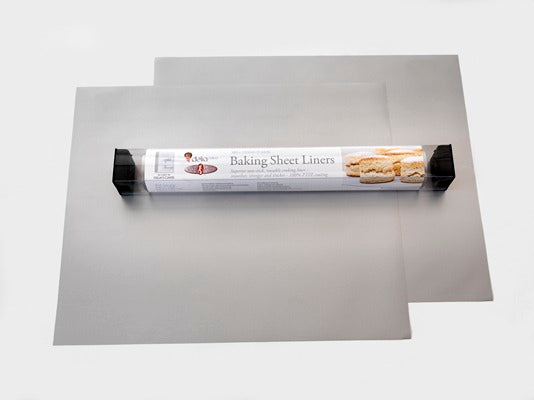 PAIR OF LINERS FOR BAKING SHEET 38 x 33CM DELIA ONLINE RANGE