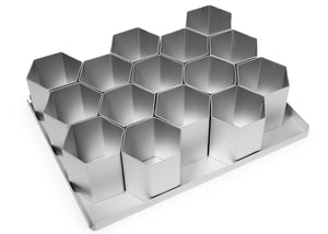 Silverwood bakeware  15 Piece 2 1/2 inch Hexagon Multi Mini Set