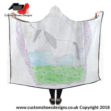 Unicorn Hooded Blanket 80X56