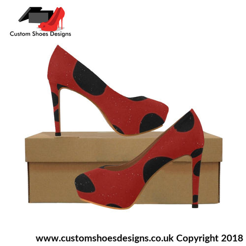 Black & Red Womens High Heels (044)