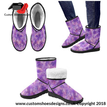 Purple High Top Unisex Snow Boots Custom (047)