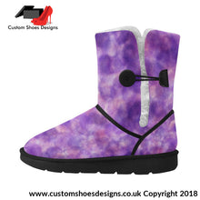 Purple Unisex Single Button Snow Boots (051)