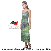 Water Fall V-Neck Open Fork Long Dress(Model D18) Dress(