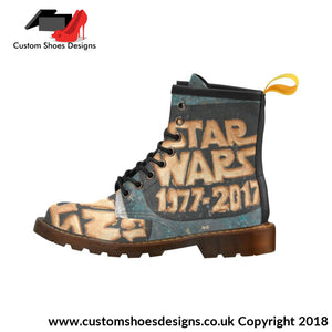 Star Wars High Grade Pu Leather Martin Boots For Men For (402H)