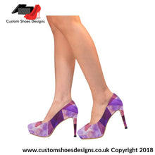 Purple And Pink Womens High Heels (044)