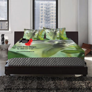 White Butterfly 3-Pieces Bedding Set