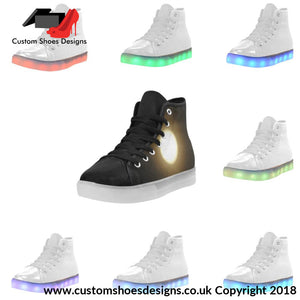 Full Moon Light Up Womens Shoes Custom (045)
