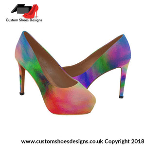 Water Color Womens High Heels (044)