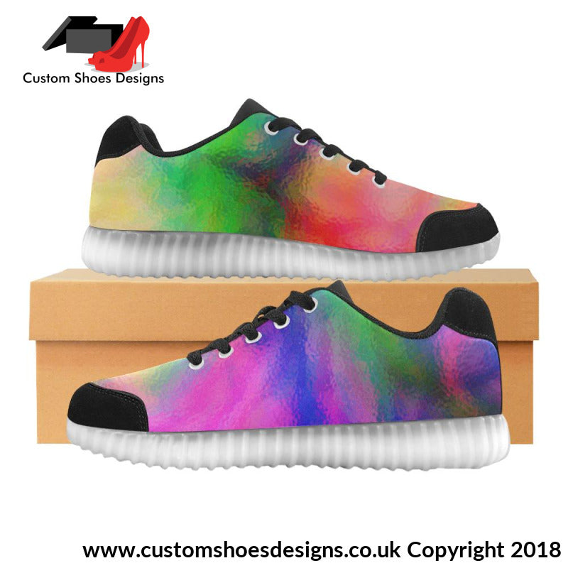 Water Color Light Up Casual Womens Shoes (046)