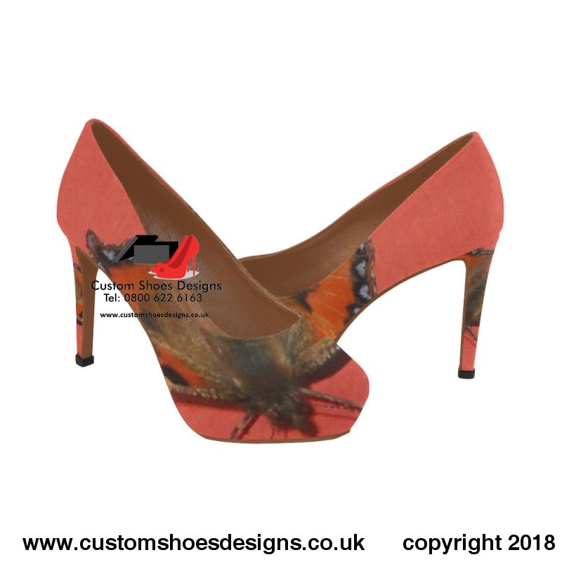 Butterfly Womens High Heels (044)