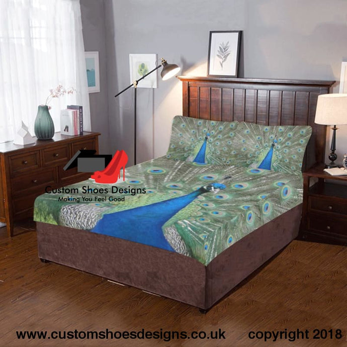 Peacock 3-Piece Bedding Set
