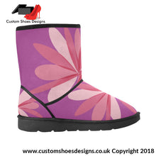 Pink Custom High Top Unisex Snow Boots (047)