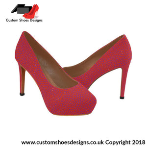Dark Pink Womens High Heels (044)