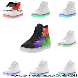 Water Color Light Up Womens Shoes Custom (045)