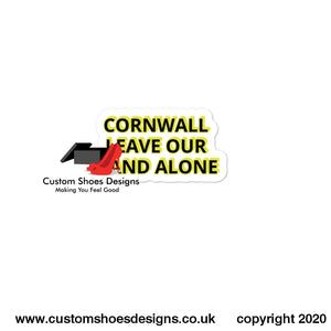 Cornwall Leave Our Land Alone Bubble-Free Stickers 3X3