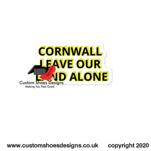 Cornwall Leave Our Land Alone Bubble-Free Stickers 4X4