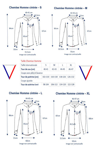 35fde2149 GUIDE DES TAILLES HOMME – But You're French - La chemise éco ...
