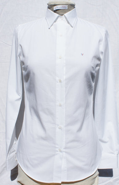 Women's fitted shirt - Bright White