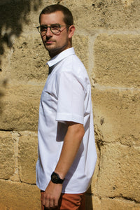 Men's Shirt - straight fit  - Bright White