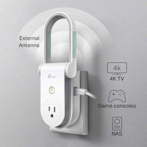 Kasa AC1200 Wi-Fi Range Extender AND Smart Plug by TP-Link - RE370K
