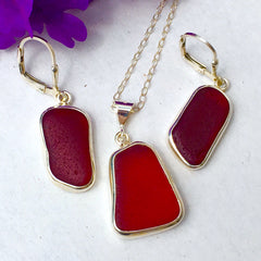 Red Beach Glass collection by Christine Gable-Epstein