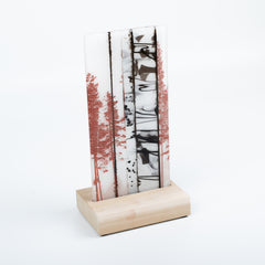 Birch Panel in Stand by Josie Geiger
