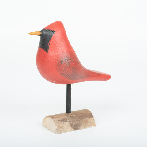Big Cardinal, Richard Morgan, wood bird decoy