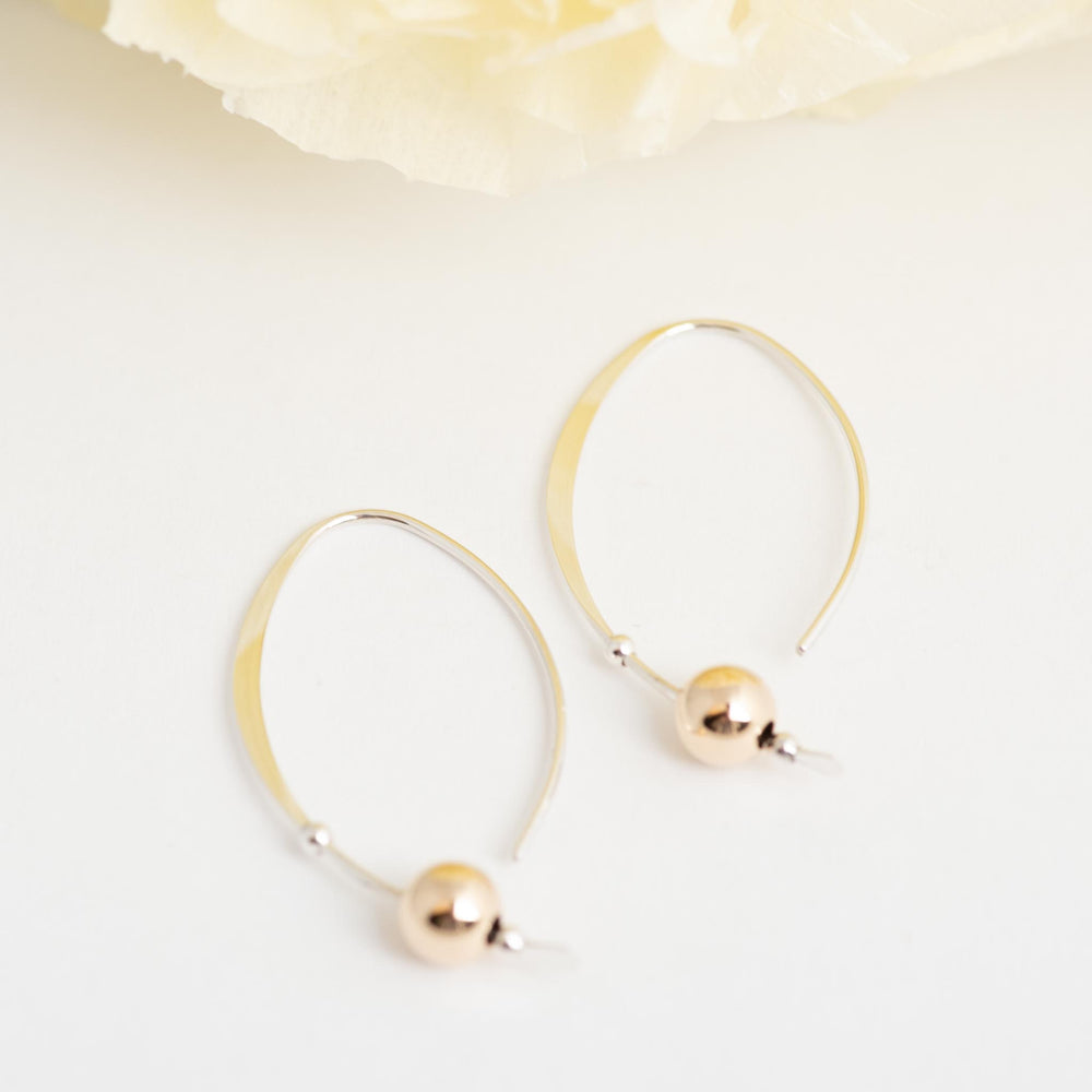 Sterling Silver Earring With Gold Ball