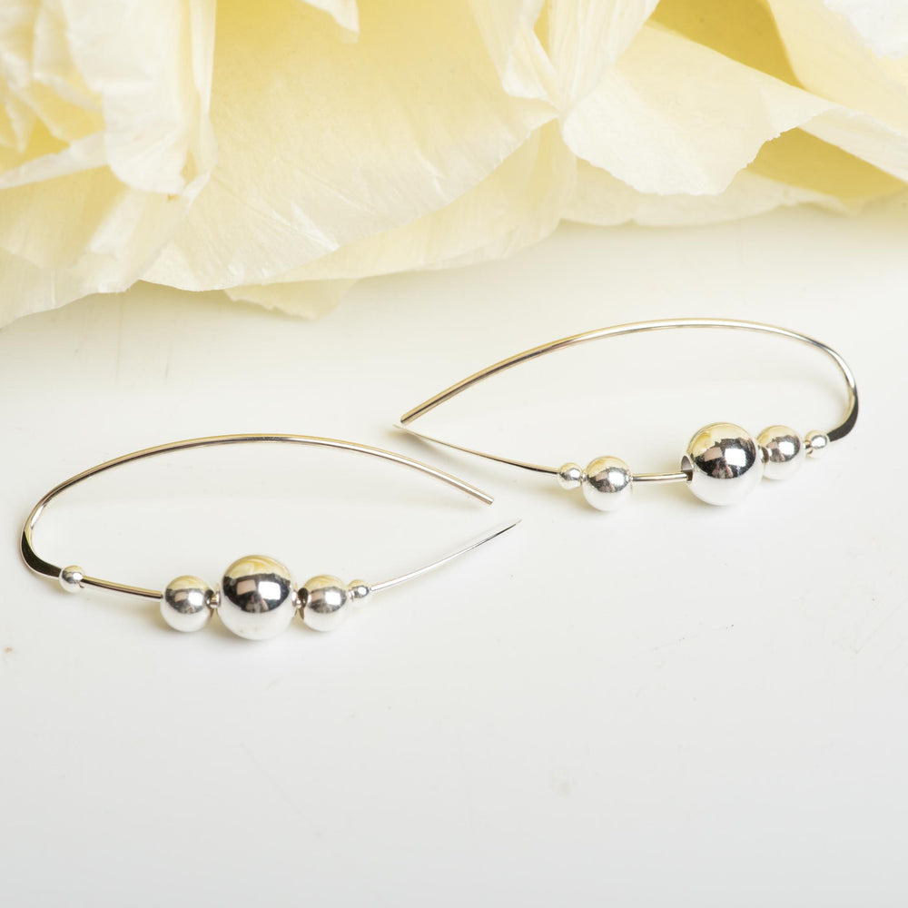 Sterling Silver Earring With Silver Ball