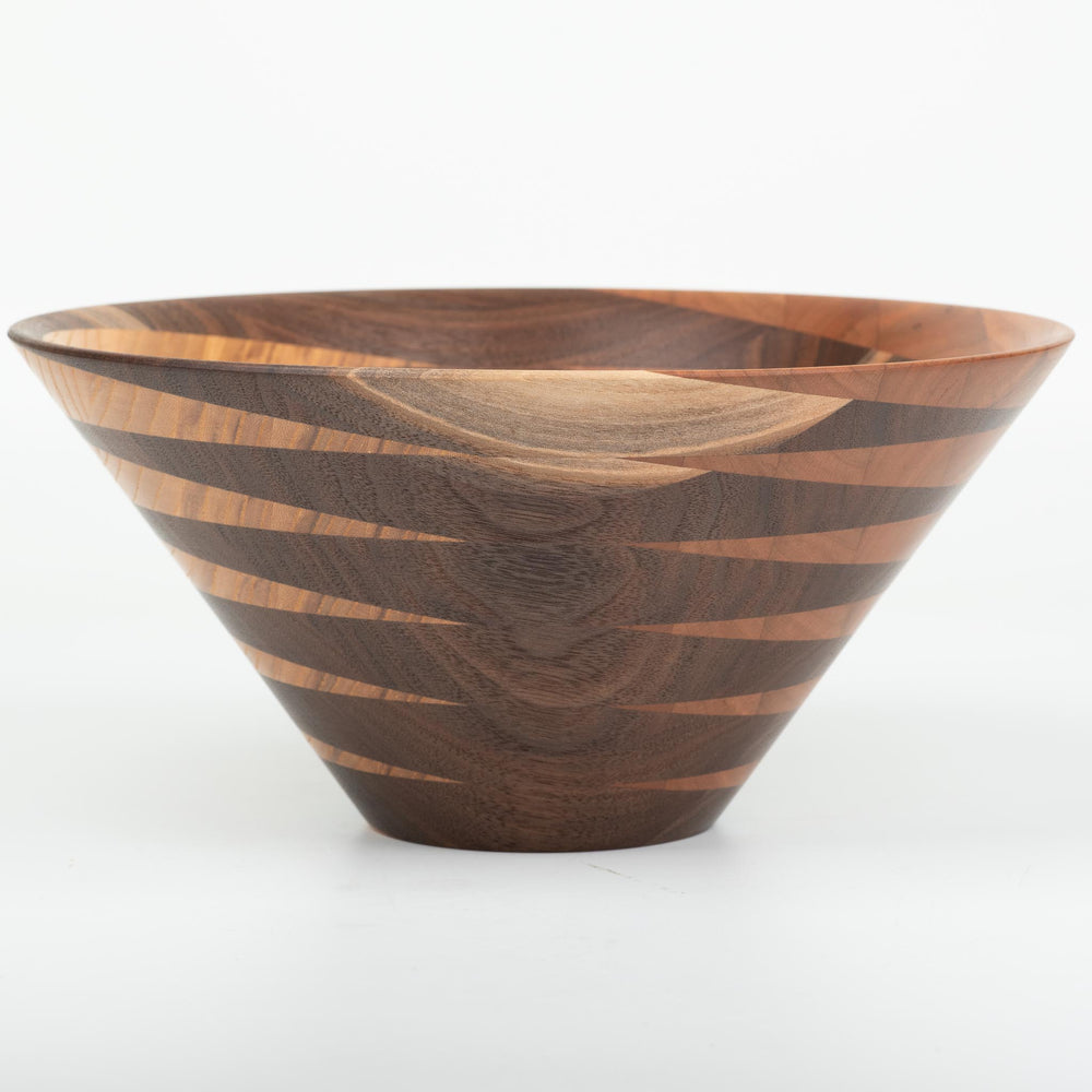 Ash, Black Walnut, and Cherry Bowl