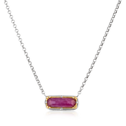 Ruby Doublet Vermeil Necklace