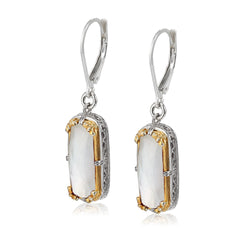 Mother of Pearl Doublet Vermeil Earring