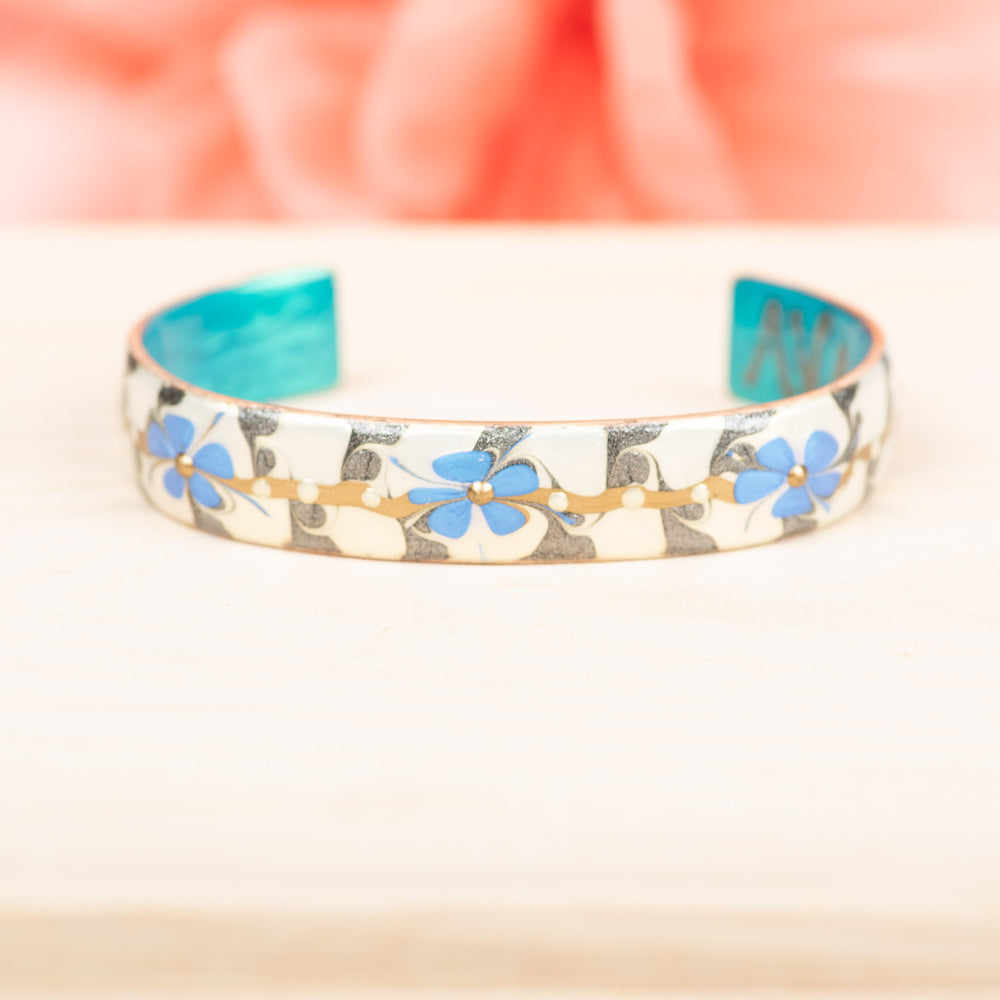 Large Blue Flower Cuff