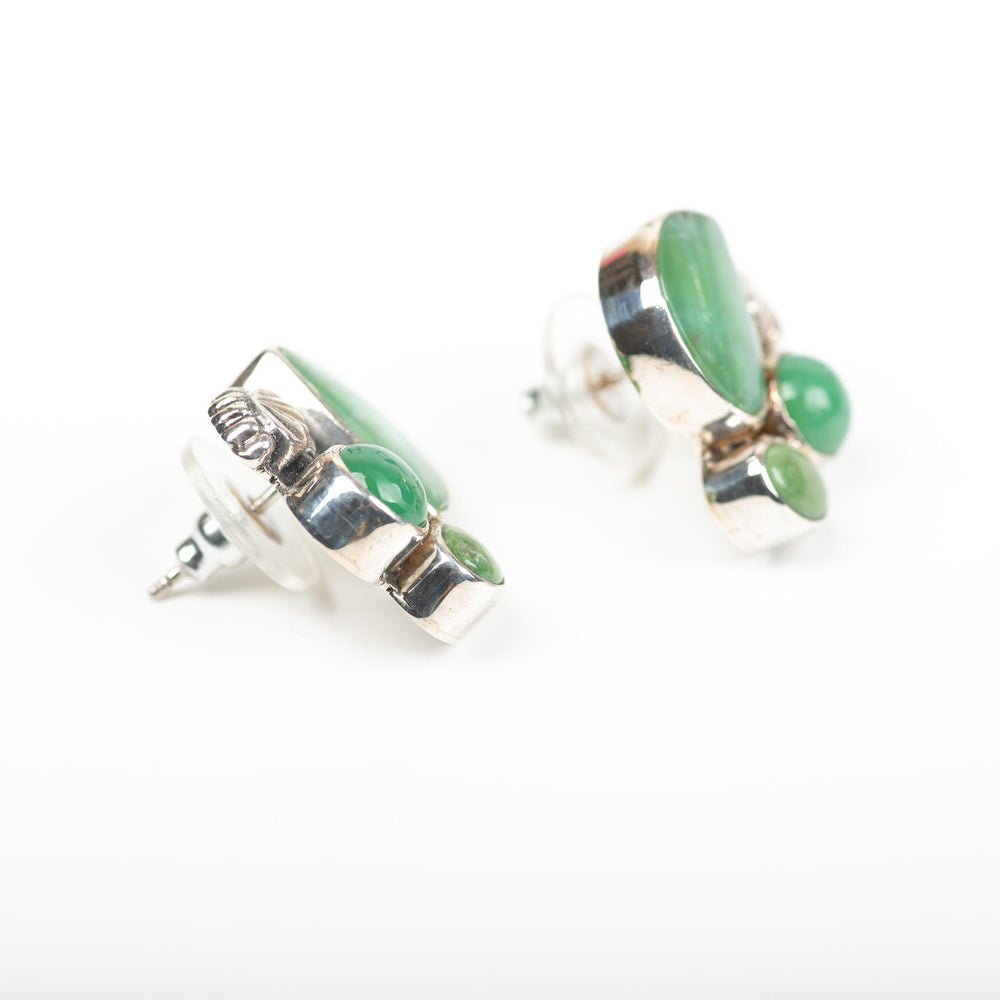 Turquoise and Chrysoprase Post Earrings