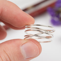 5-Wrap Sterling Silver Ring