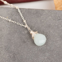 Small Faceted Amazonite Necklace