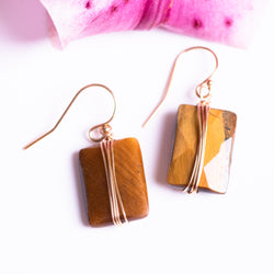Tiger's Eye Wrap Earring