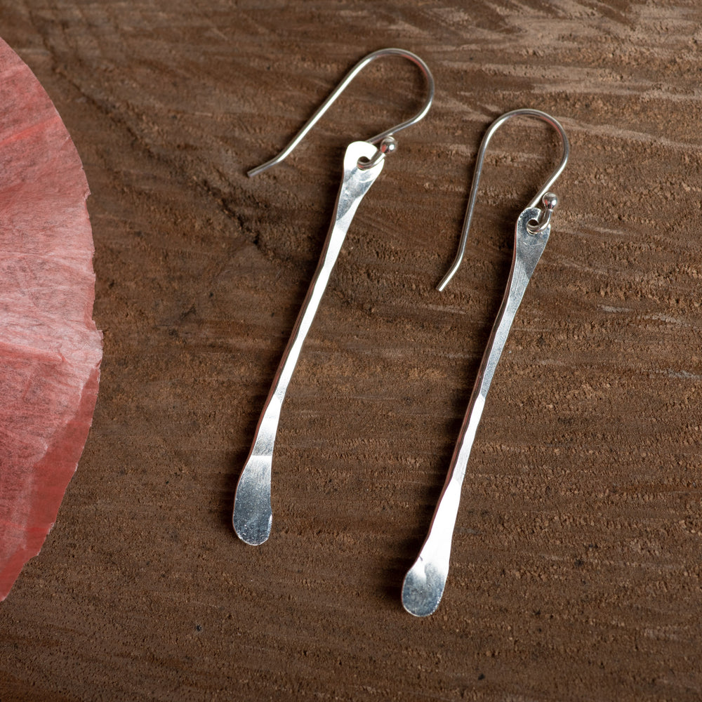 Sterling Paddle Earring