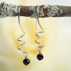 Hand-forged Onyx Earrings