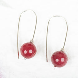 Ruby Jade Earrings