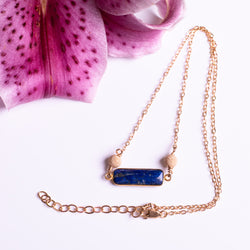 Set Lapis Necklace Sparkle Accent