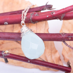 Top-Wrapped Amazonite Necklace