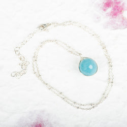 Wrapped Chalcedony Necklace