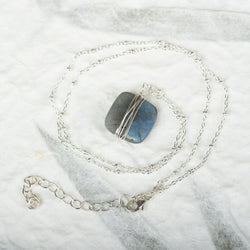 Wrapped Labradorite Necklace