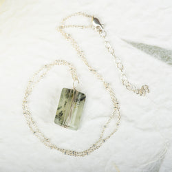Wrapped Prehnite Necklace